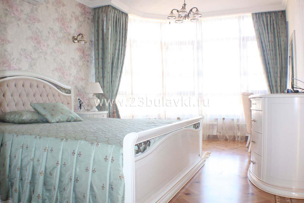 Шторы и покрывало в спальню Краснодар ул. Кубанская 45к2
