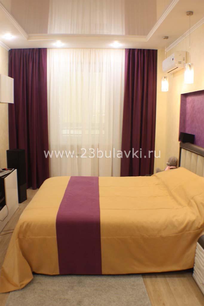 Шторы и покрывало в спальню Краснодар ул. Кубанская 56